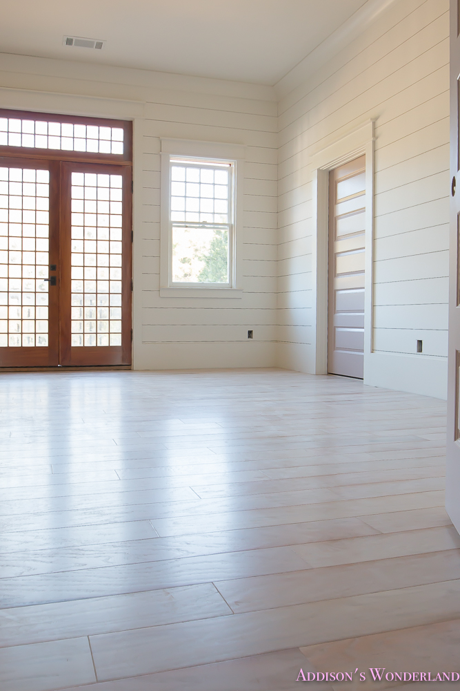 Our First Shaw Floors Whitewashed Hardwood Room Reveal Addisons