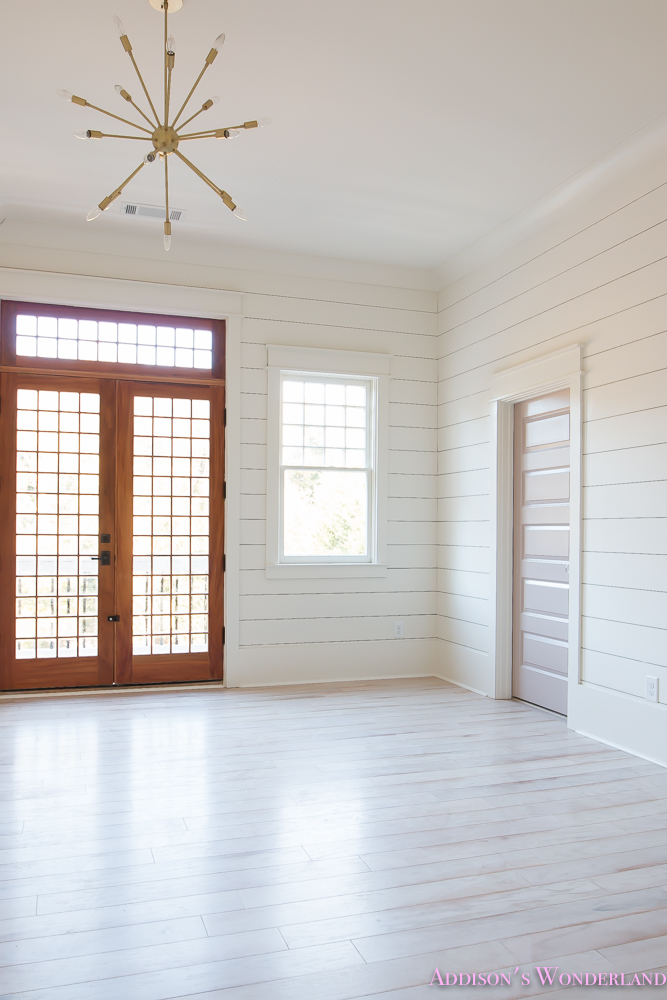 Shaw Floors Whitewashed Hardwood Flooring White Shiplap Walls Rose
