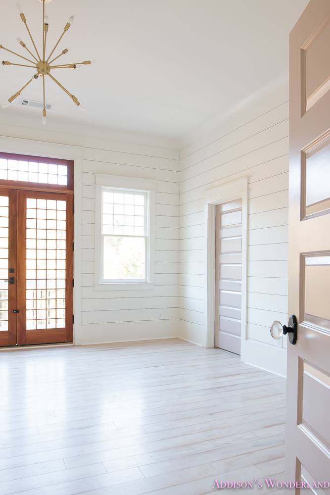 Superior Shaw Floors Whitewashed Hardwood Flooring White Shiplap Walls  Rose Quartz Doors 2 Of 12