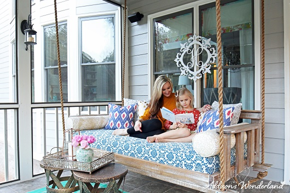 Our New Outdoor Porch Swing Addison S Wonderland