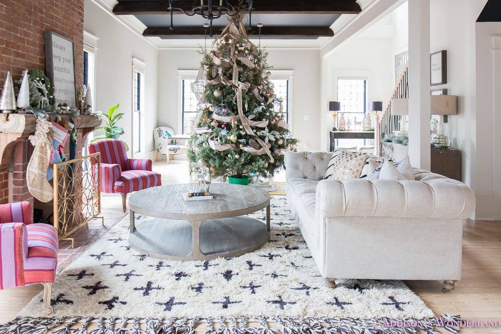 vintage-living-room-black-ceiling-brick-fireplace-dark-wood ...