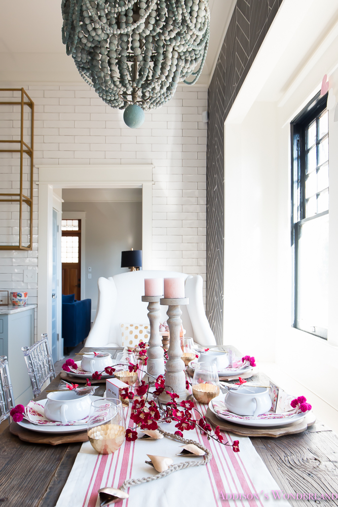 Breakfast room valentines day dinner table decor ideas - Dining table setting ideas ...