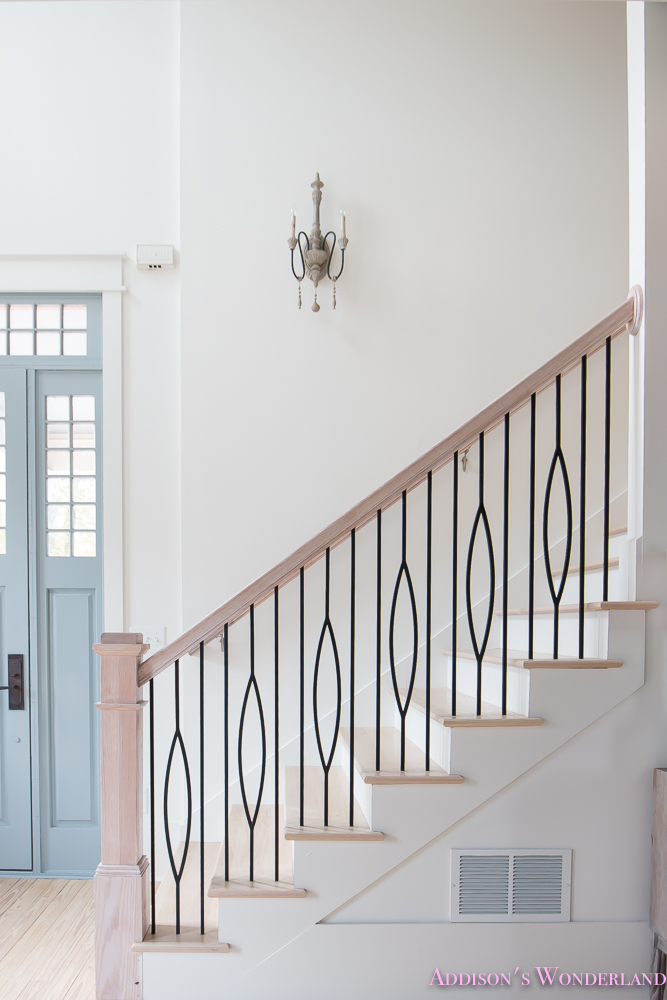 ... Foyer White Walls Blue Front Foor Uncertain Grey  ...