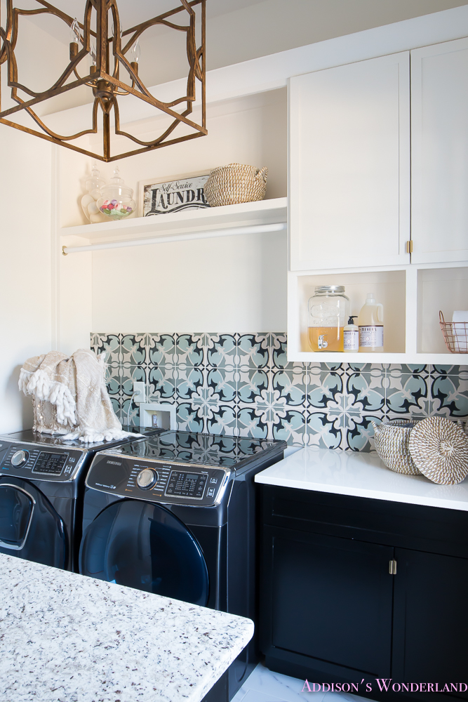 Laundry Room Organization Ideas White Black Cabinets Cement Tile Shaw Floors Marble Flooring Carrera Window Sashes Alabaster Walls Sherwin