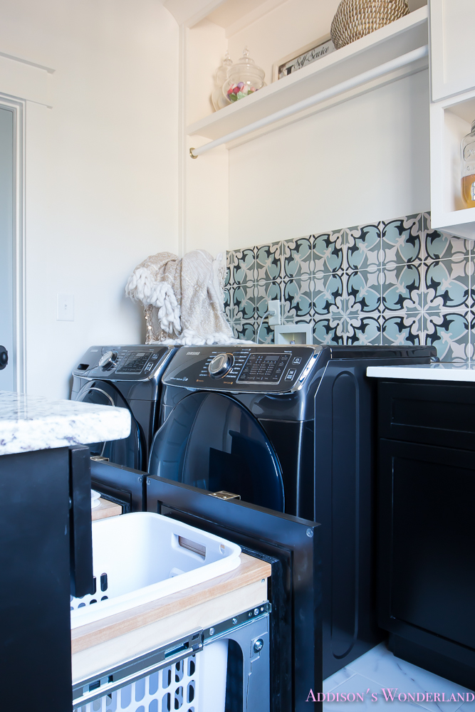laundry-room-organization-ideas-white-black-cabinets-cement-tile-shaw-floors-marble-tile-flooring-carrera-black-window-sashes-alabaster-walls-sherwin-williams-12-of-17