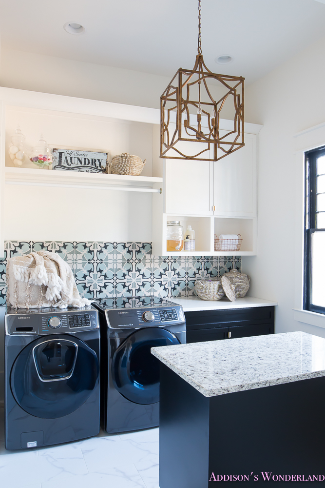 laundry-room-organization-ideas-white-black-cabinets-cement-tile-shaw-floors-marble-tile-flooring-carrera-black-window-sashes-alabaster-walls-sherwin-williams-5-of-17