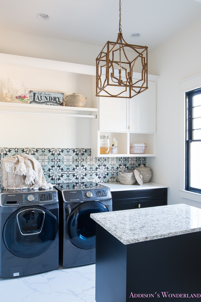 laundry-room-organization-ideas-white-black-cabinets-cement-tile-shaw-floors-marble-tile-flooring-carrera-black-window-sashes-alabaster-walls-sherwin-williams-6-of-17