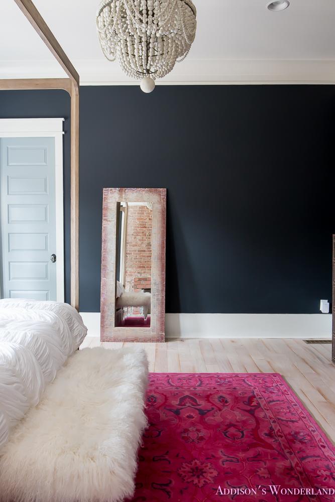 dark walls master bedroom