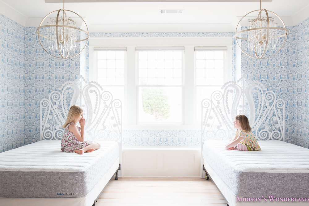Gel Foam Bed Mattress Hygge And West Nethercote Blue Wallpaper