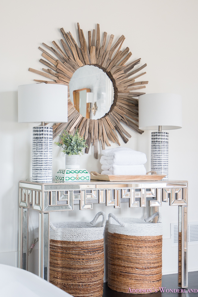 Master Bathroom Console Table Addison S Wonderland