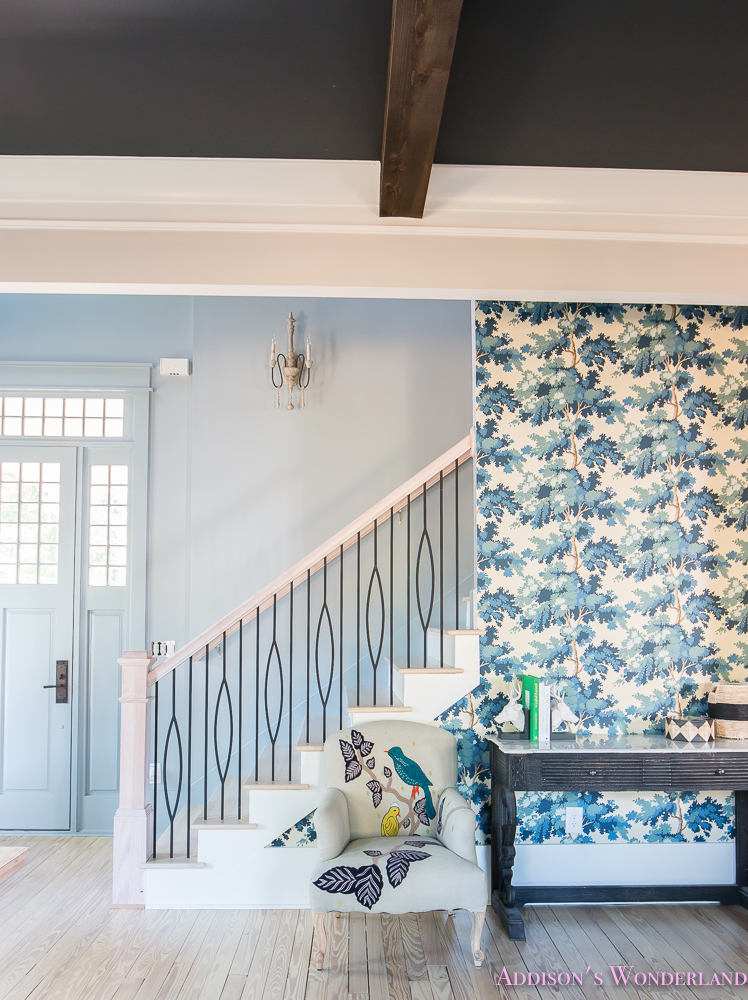 Our Powder Blue Foyer Update Addison S Wonderland