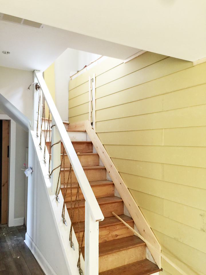 How to Shiplap Wall and Open Pipe Shelves 23 - Addison\'s Wonderland