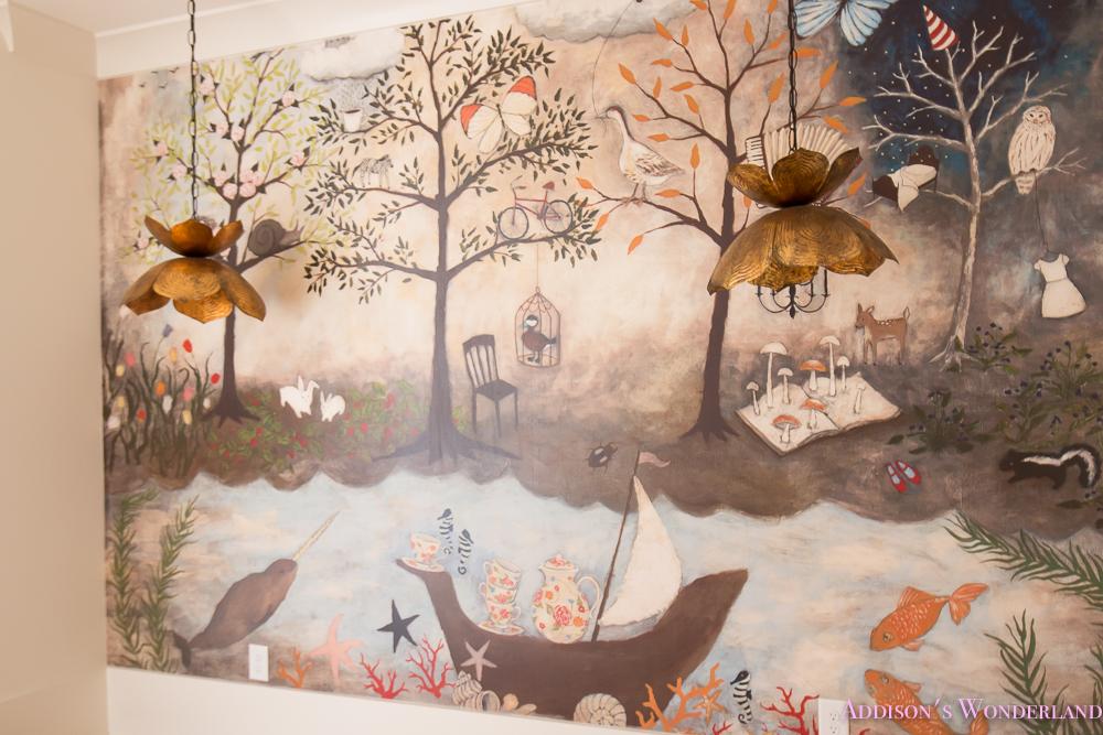 Art room craft mural anthropologie rebecca rebouche for Anthropologie mural wallpaper