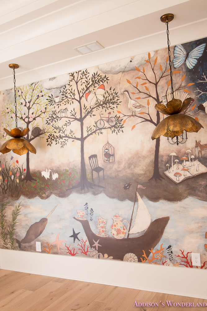 Sherwin williams wall murals for Anthropologie mural