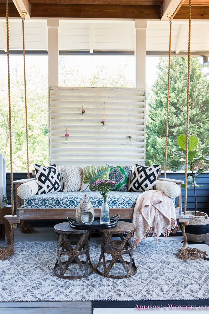 Back Porch Makeover with World Market