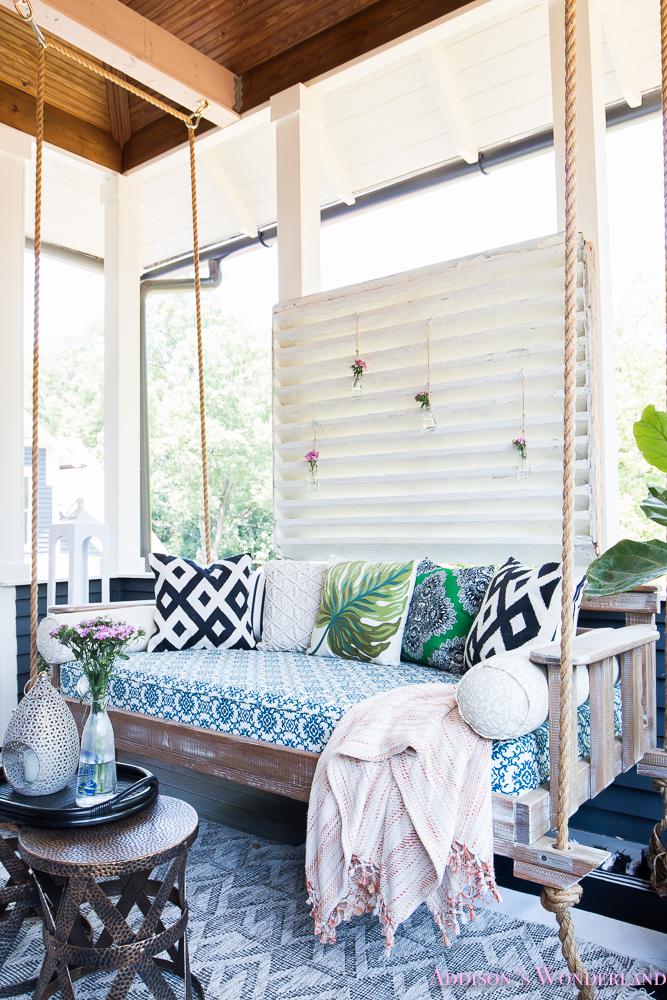 Back Porch Makeover With World Market Addison S Wonderland