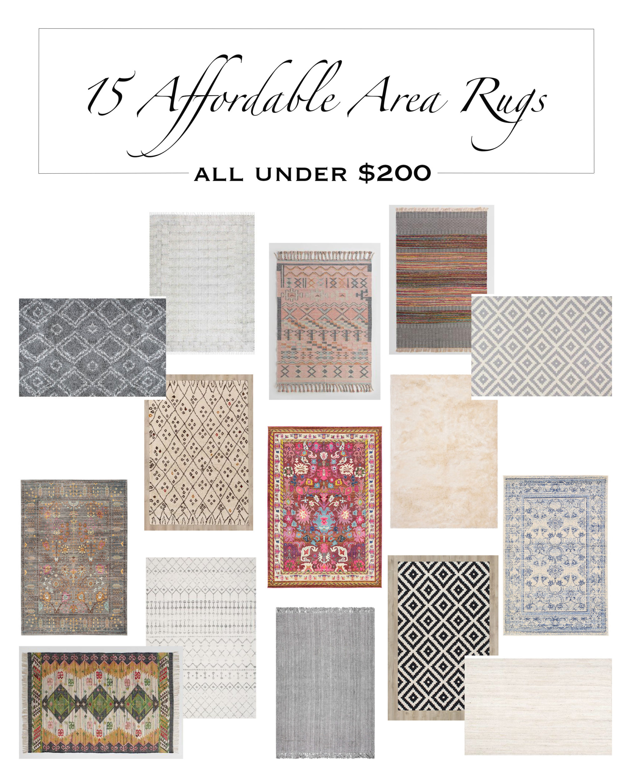 My Top 15 Affordable Area Rugs Under $200!