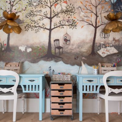 Our Kid's Art / Homework / Craft Room Reveal with World Market!