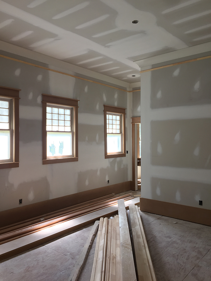 Trim ceilings and moldings oh my addison 39 s wonderland for Cost to paint interior doors and trim