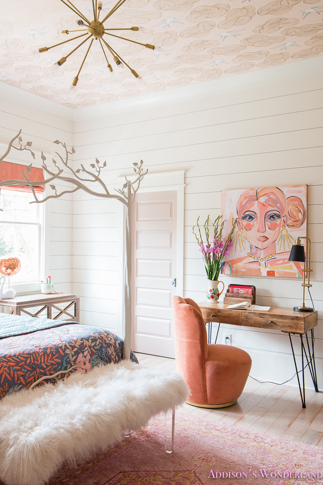 artwork young teen girl's bohemian bedroom