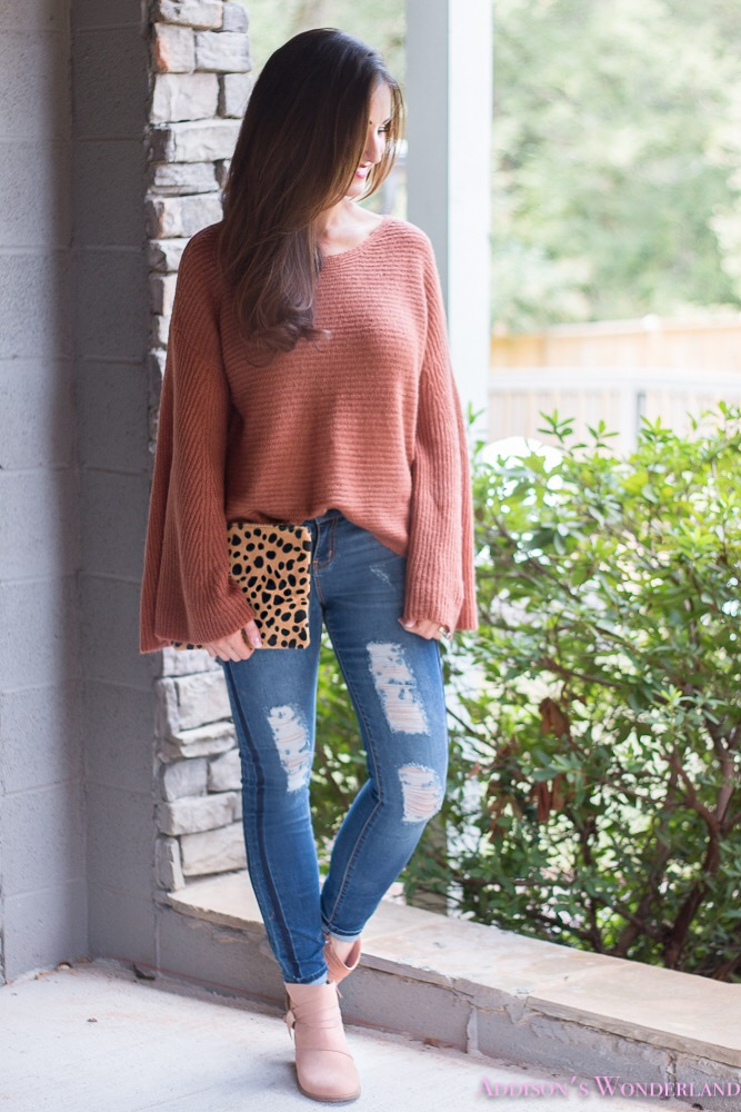 Bell Sleeved Sweater and Cozy Bootie Faves for Fall…