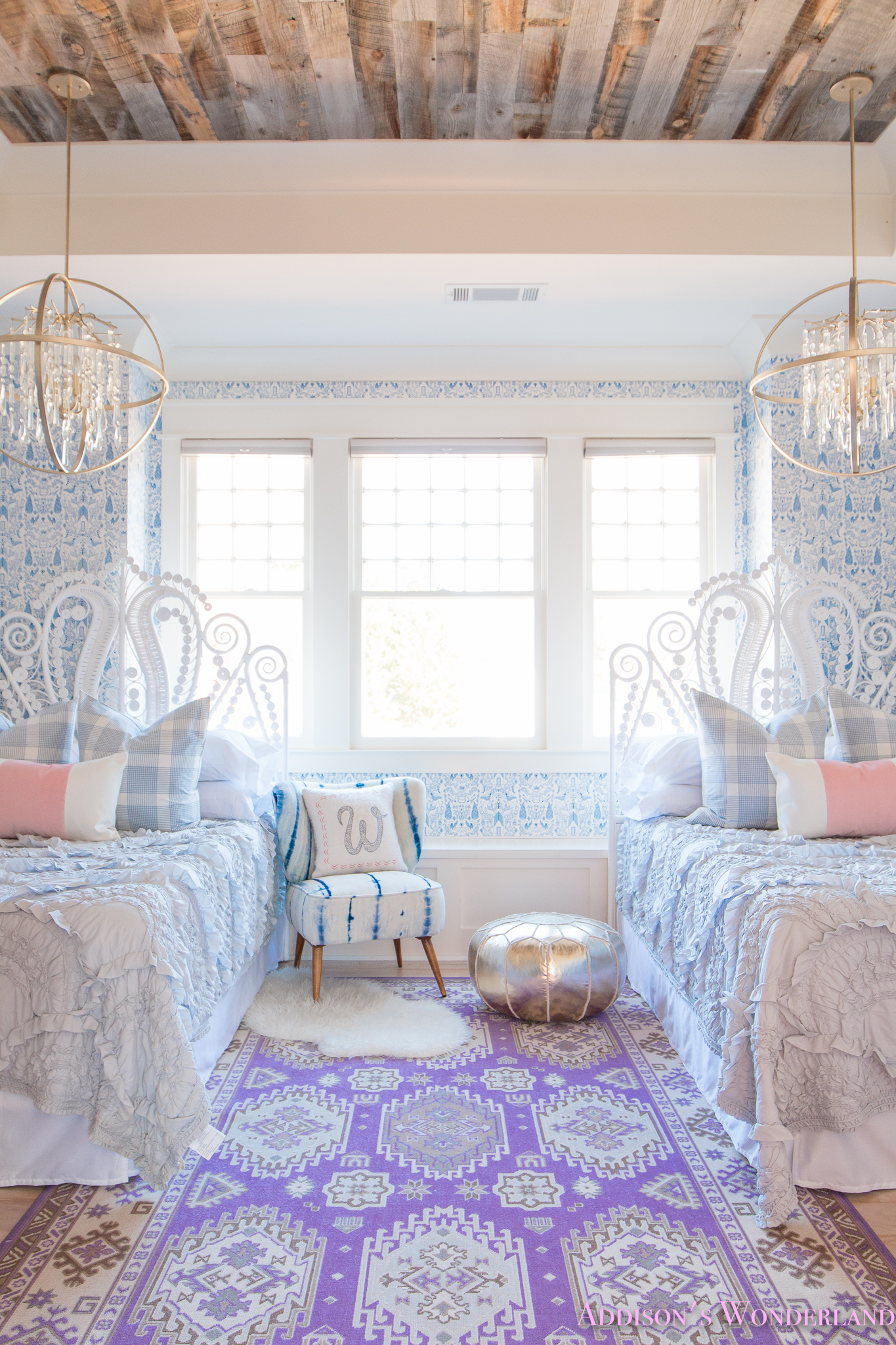 Our New Caitlin Wilson Pillows + Update on Winter's Blue & White ...