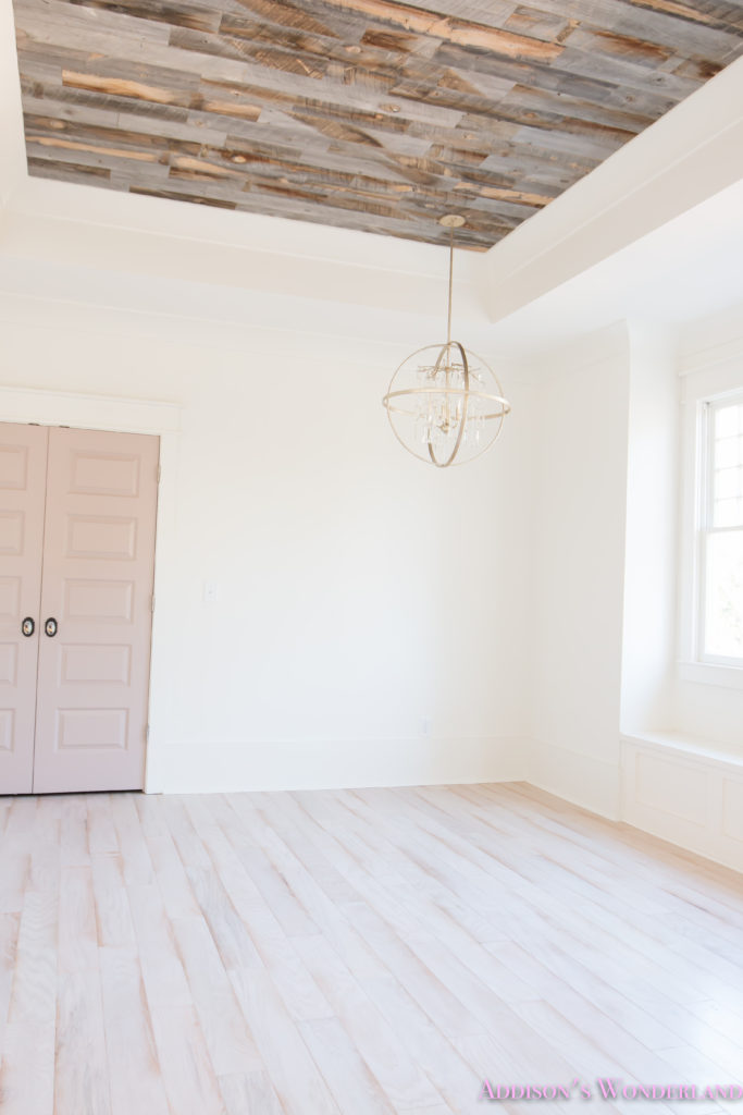 alabaster-walls-girls-bedroom-stikwood-weathered-wood-ceiling-shaw-floors-whitewashed-hardwood-flooring-pink-rose-doors-4-of-8