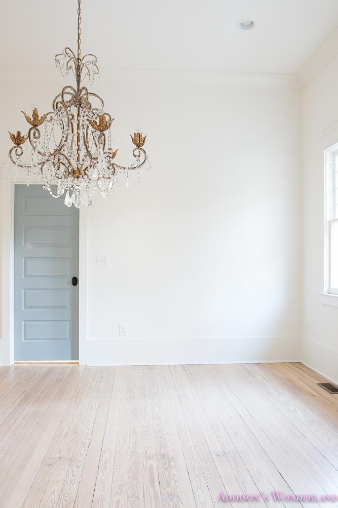 master-closet-dressing-room-alabaster-walls-vanity-bue-gray-door-chandelier-1-of-8