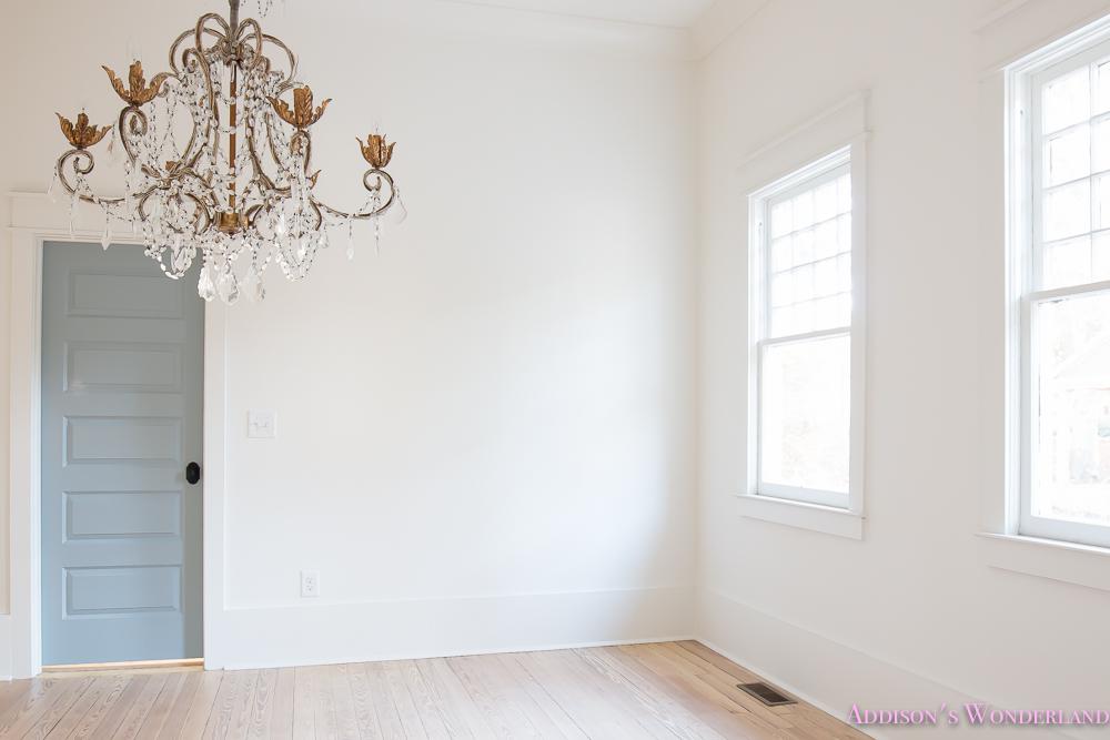 Master Closet Dressing Room Alabaster Walls Vanity Bue Gray Door Chandelier  2 Of 8