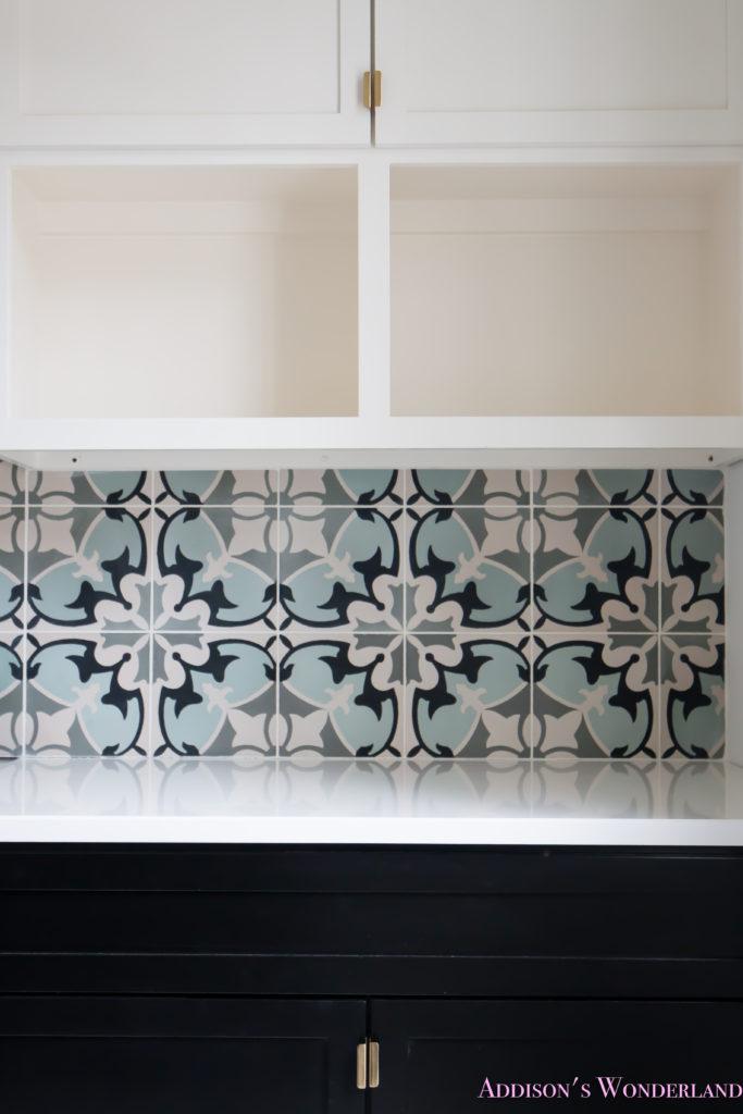 white-marble-porcelain-tile-shaw-floors-gold-lantern-chandelier-cement-tile-laundry-room-decor-4-of-7