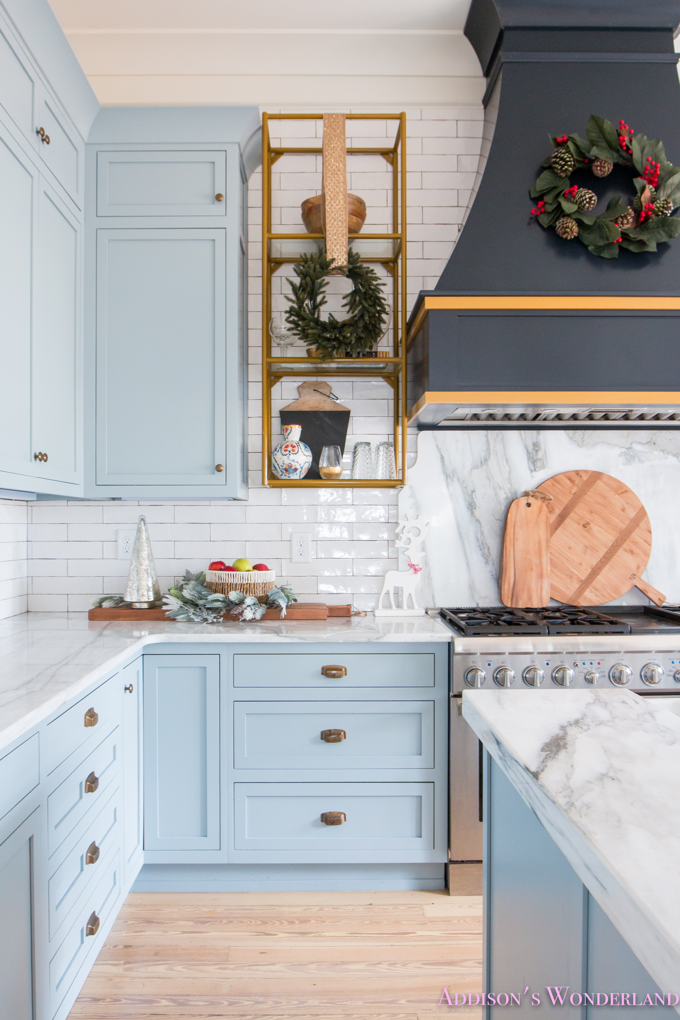 Inside Our Vintage Modern Style Holiday Kitchen…
