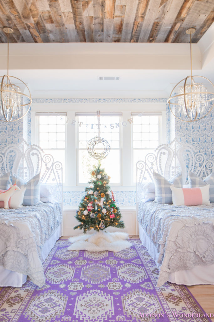 A Blue and White Little Girl\'s Bedroom Decked Out for ...