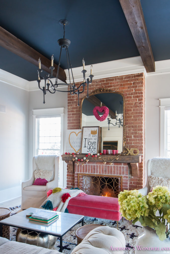 Drawing Room Design: Our Colorful, Whimsical & Elegant Valentine's Day Living