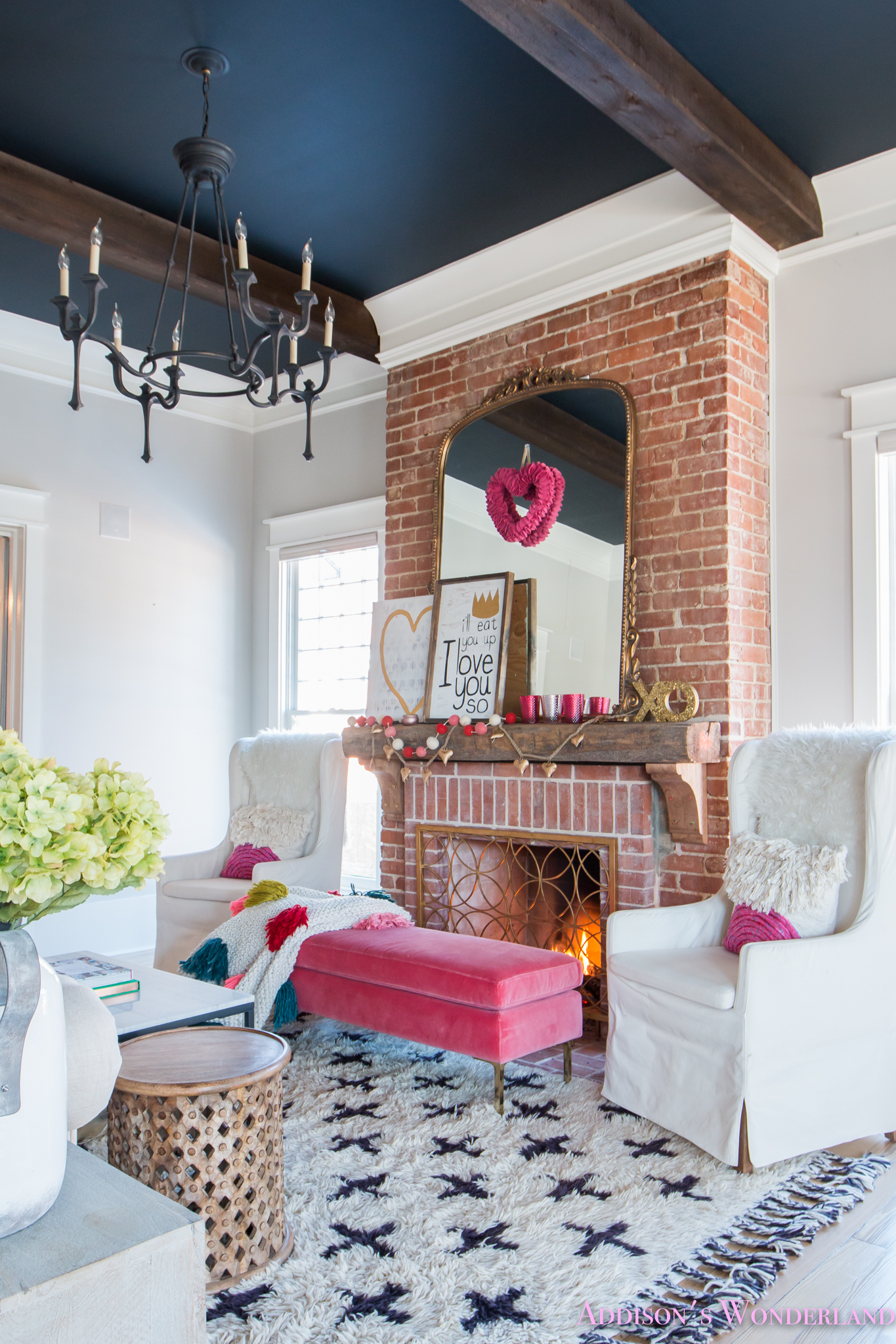Room Design: Our Colorful, Whimsical & Elegant Valentine's Day Living