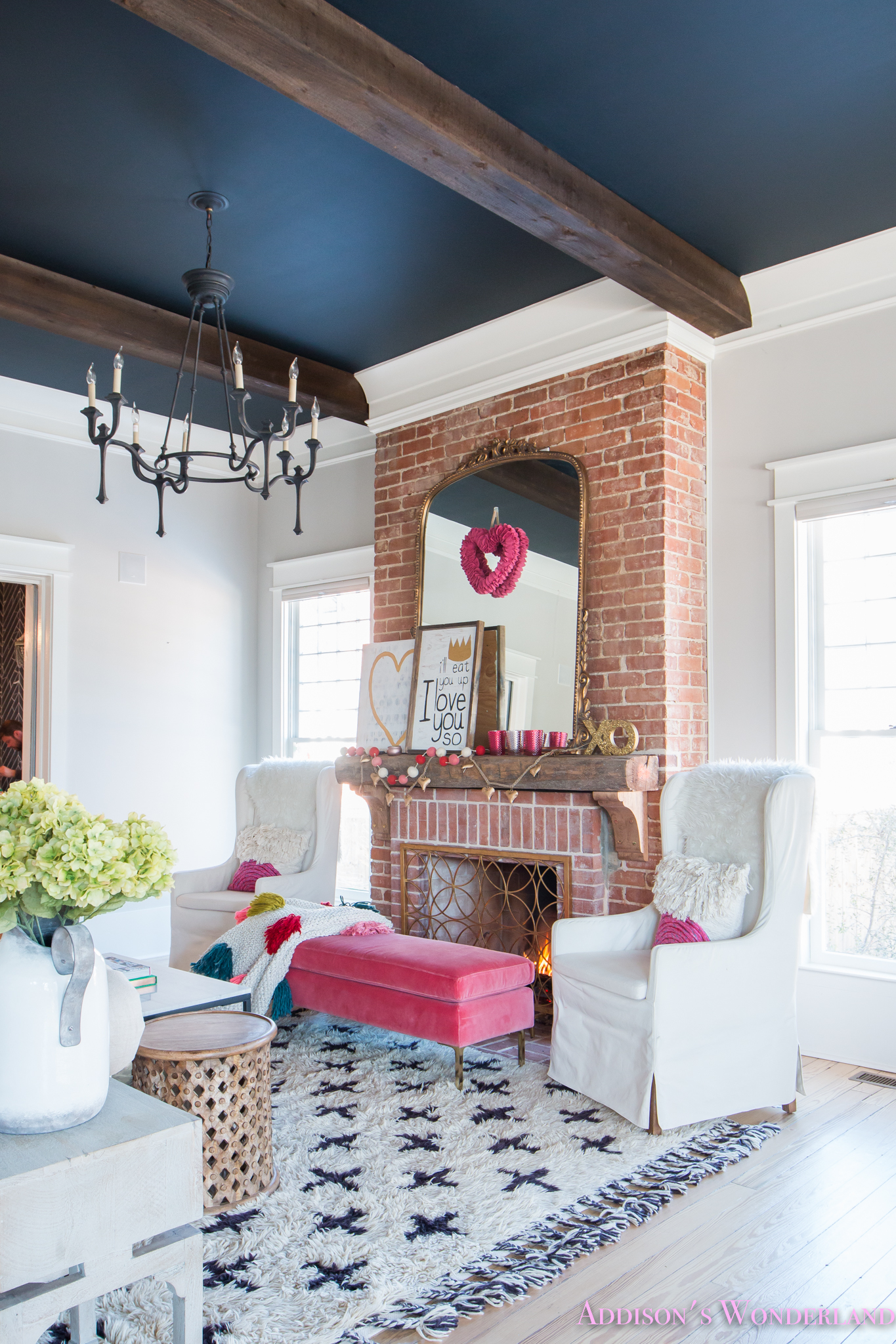 Our Colorful, Whimsical & Elegant Valentine's Day Living Room Decor…