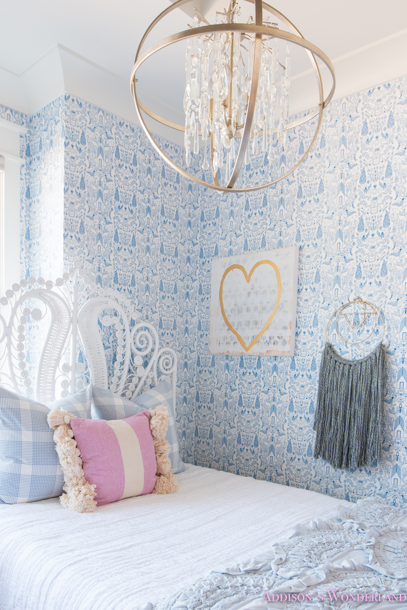 My Sweet Winnie's Blue and White Little Girl's Bedroom Update…