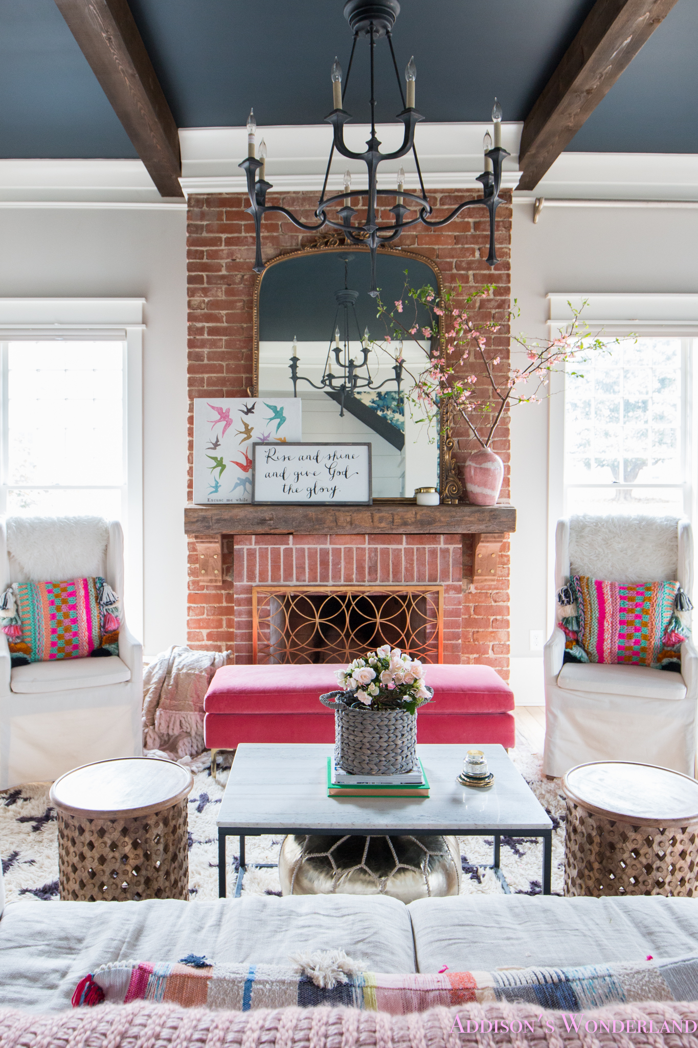 A Touch of Easter & Spring Decor in Our Colorful Living Room…