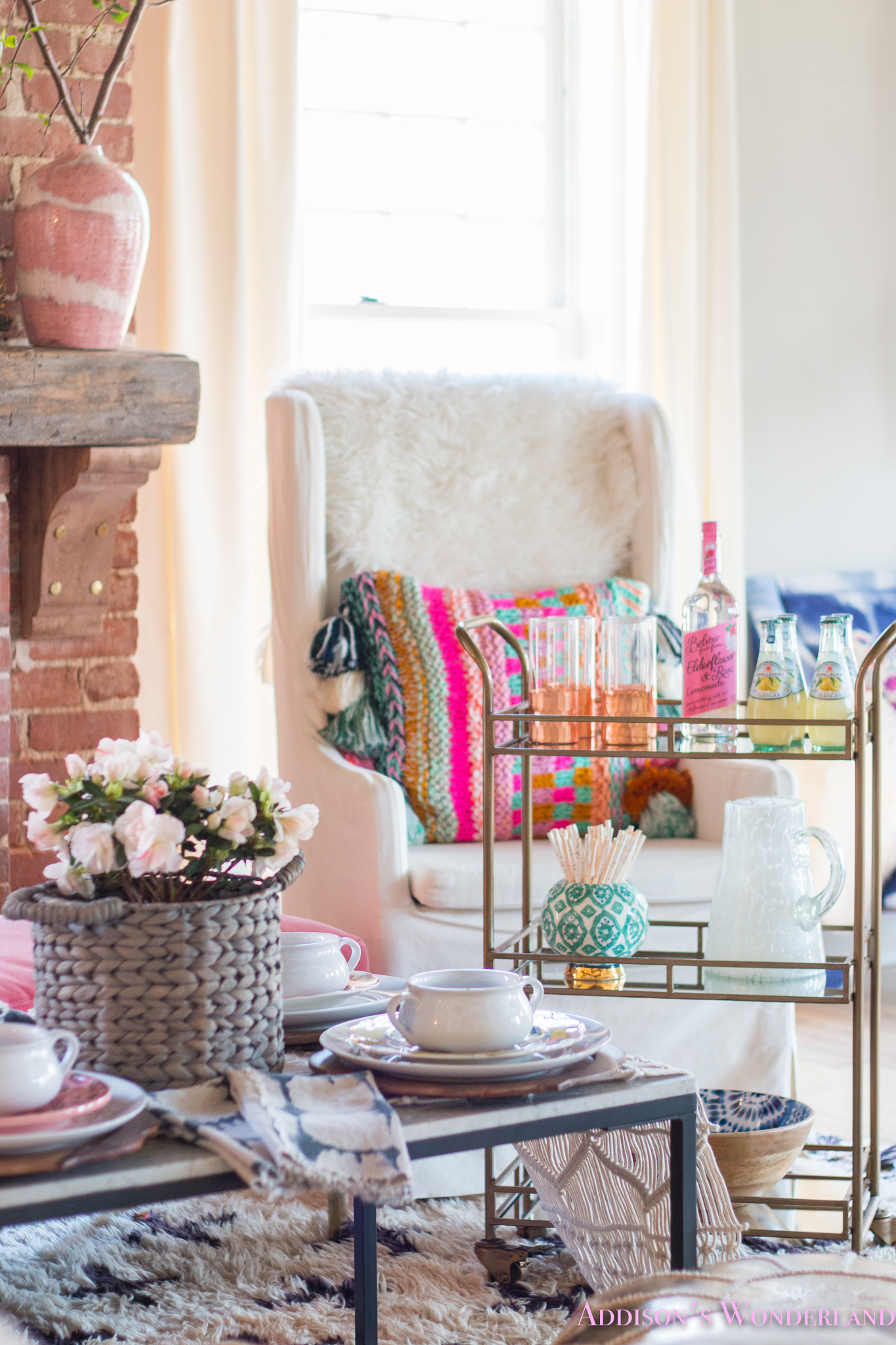 A Fun Evening Dining in the Living Room with World Market…