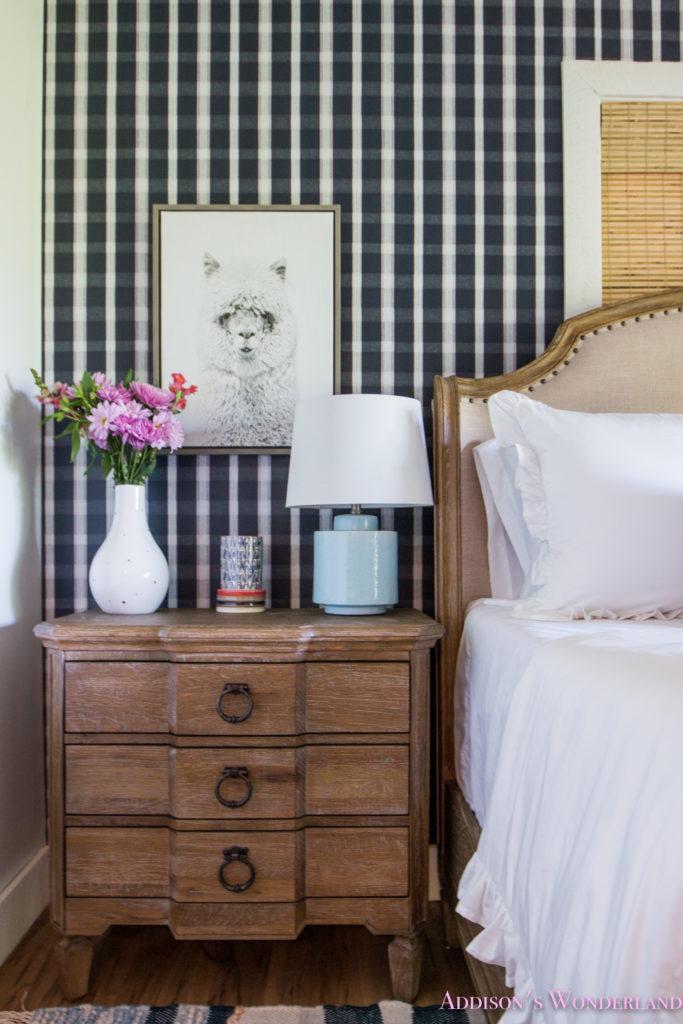 Our Blue Plaid & Aztec Kilim Bold & Colorful Cabin Guest Bedroom Reveal…