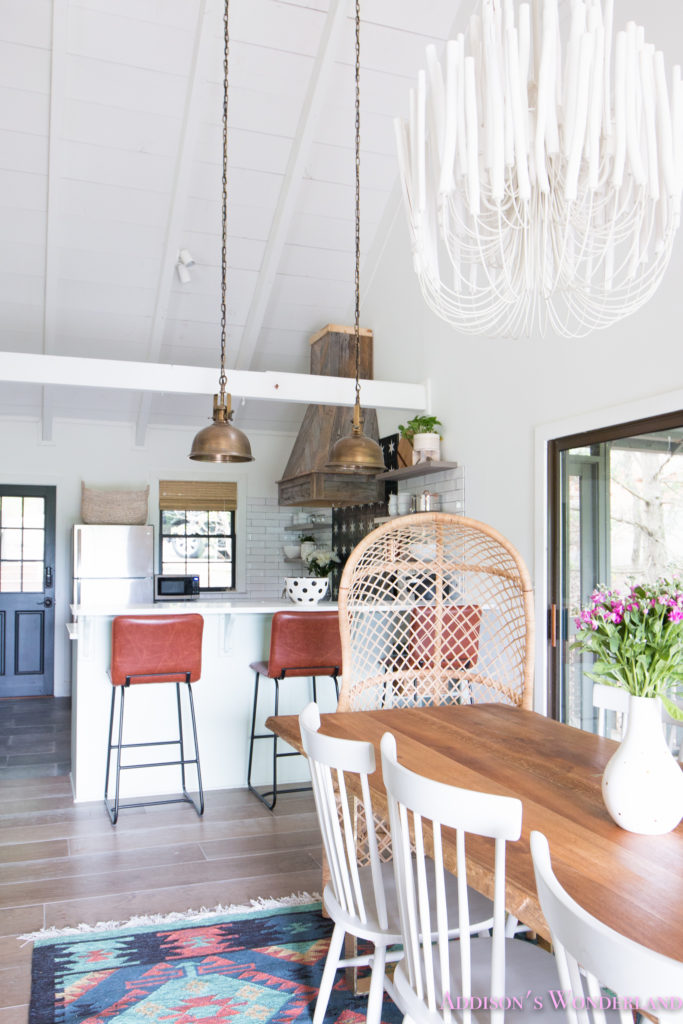 The Full Reveal Of Our White Cabin Kitchen W/ Light Mint