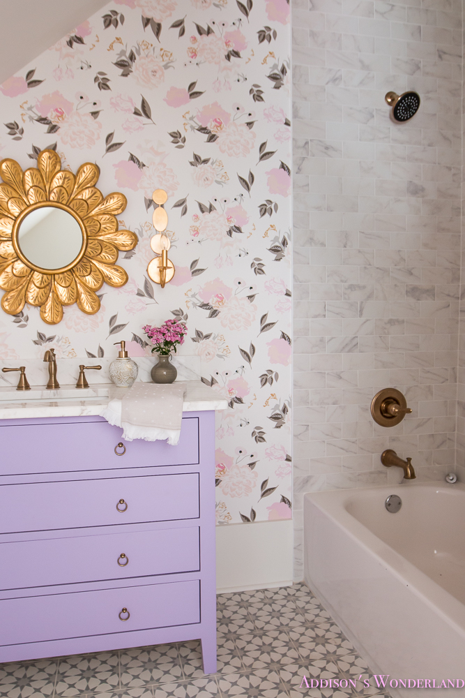 Winter S Gorgeous Floral Wallpaper Bathroom Reveal