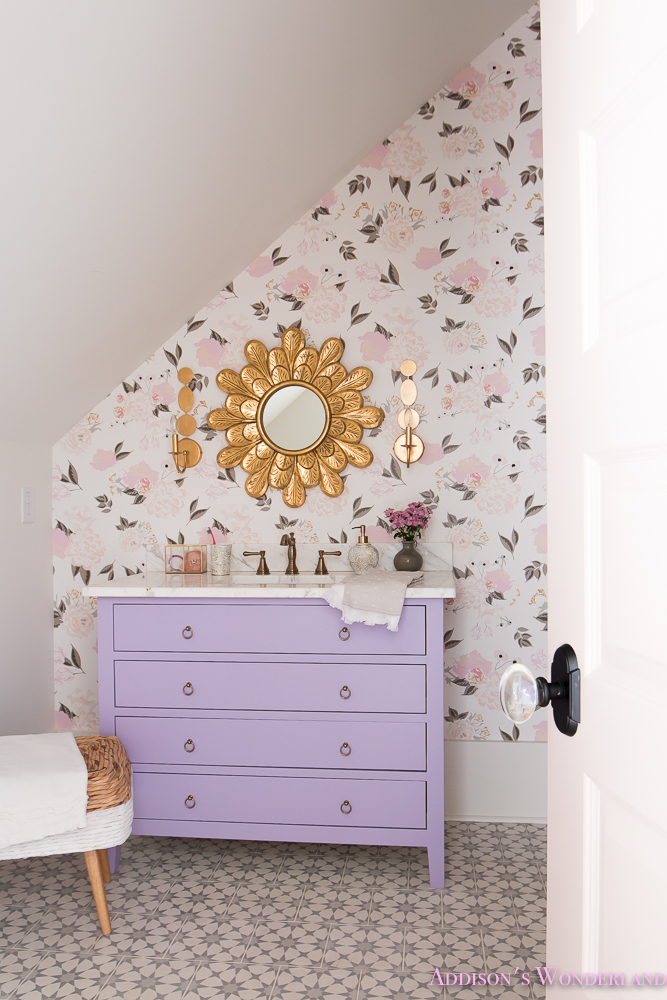 wisteria wallpaper bathroom - photo #17