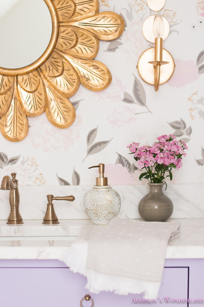 Winter's Gorgeous Floral Wallpaper Bathroom Reveal!