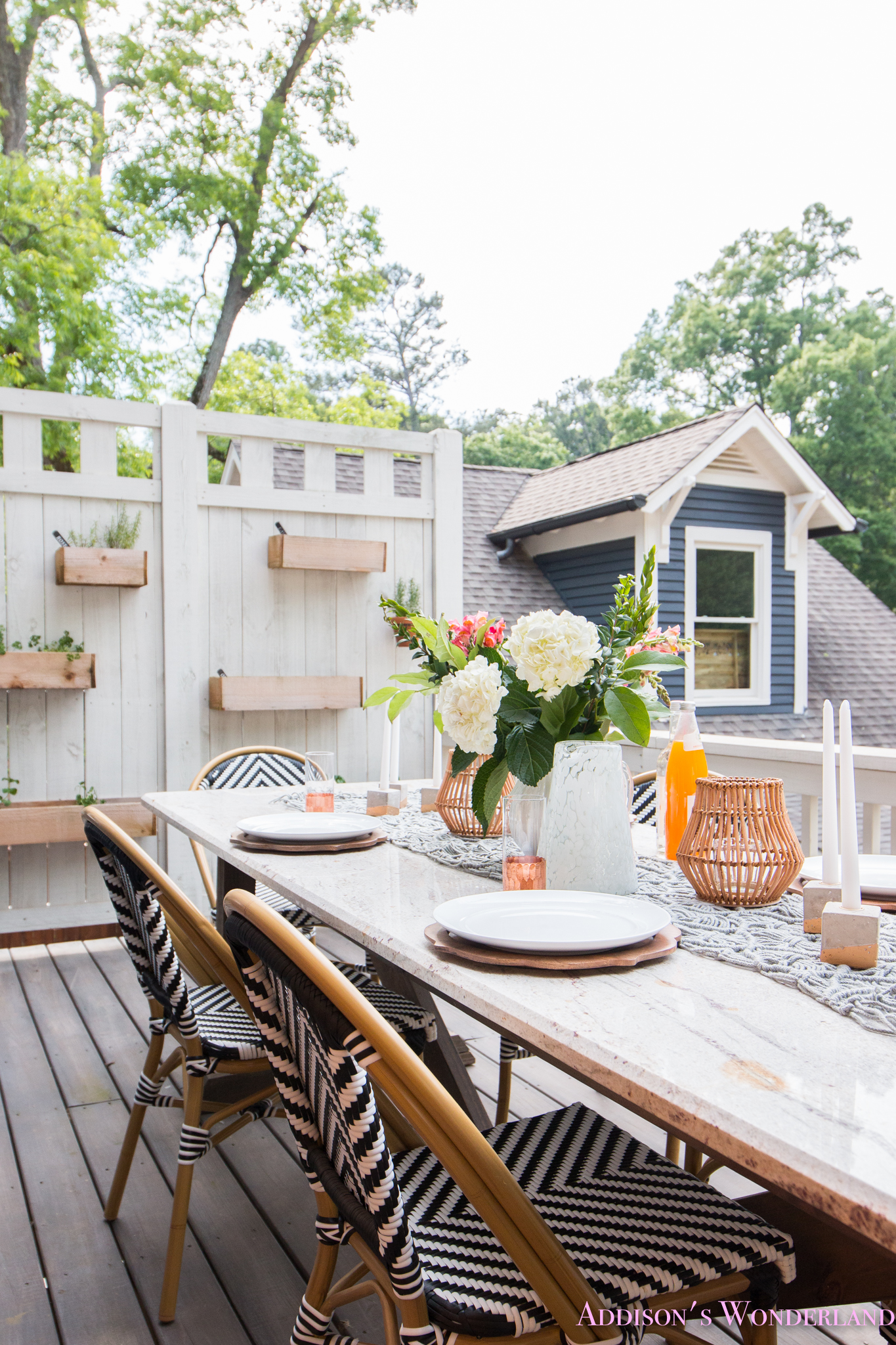 Outdoor Dining, Table Decor & the Cutest Bistro Chairs with World Market!