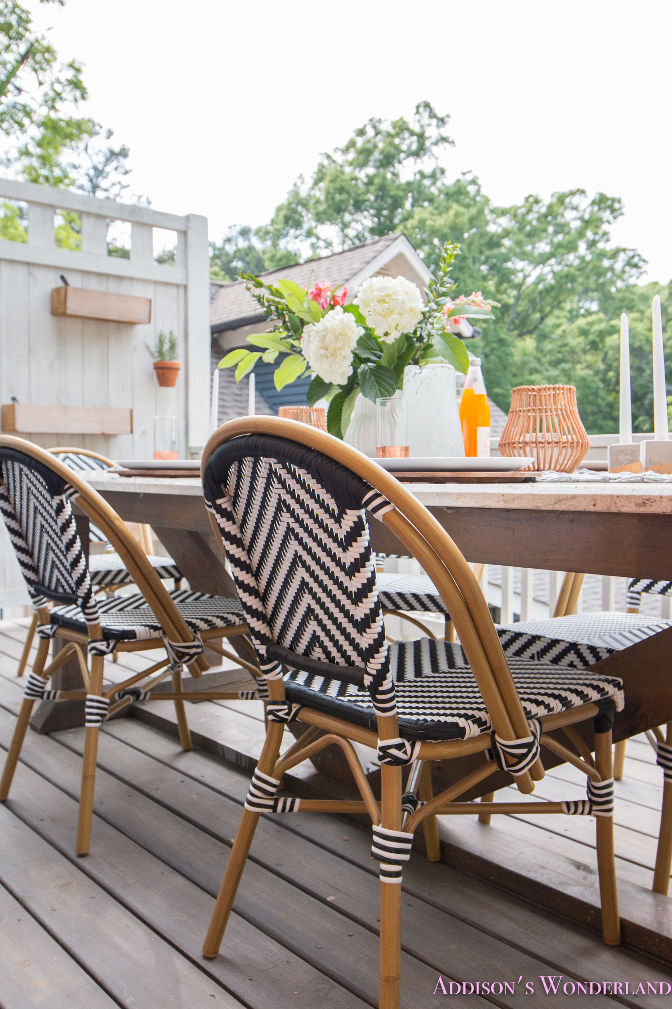 Outdoor Dining Table Decor The Cutest Bistro Chairs With World