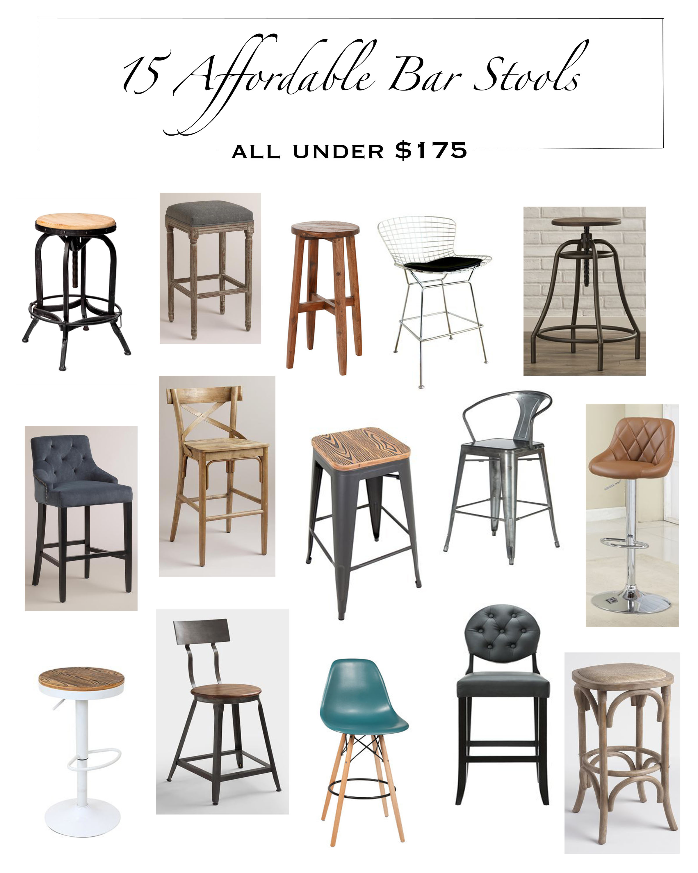 My 15 Top Affordable Bar Stools Under $175!