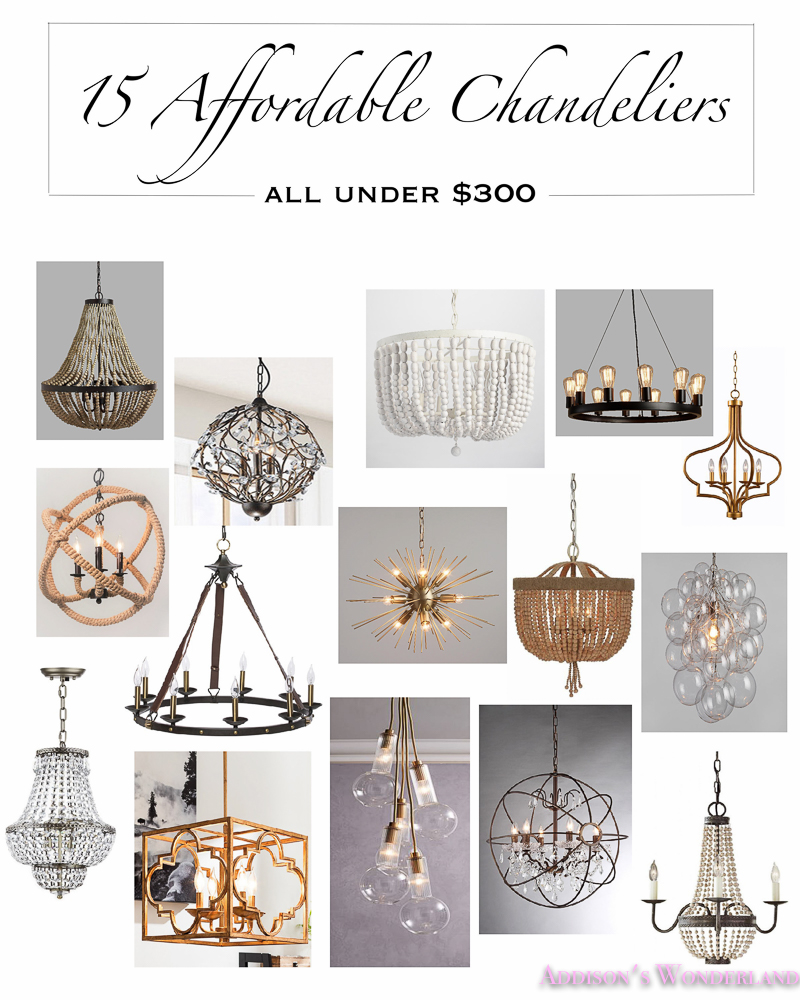 My 15 Favorite Chandeliers Under $300!