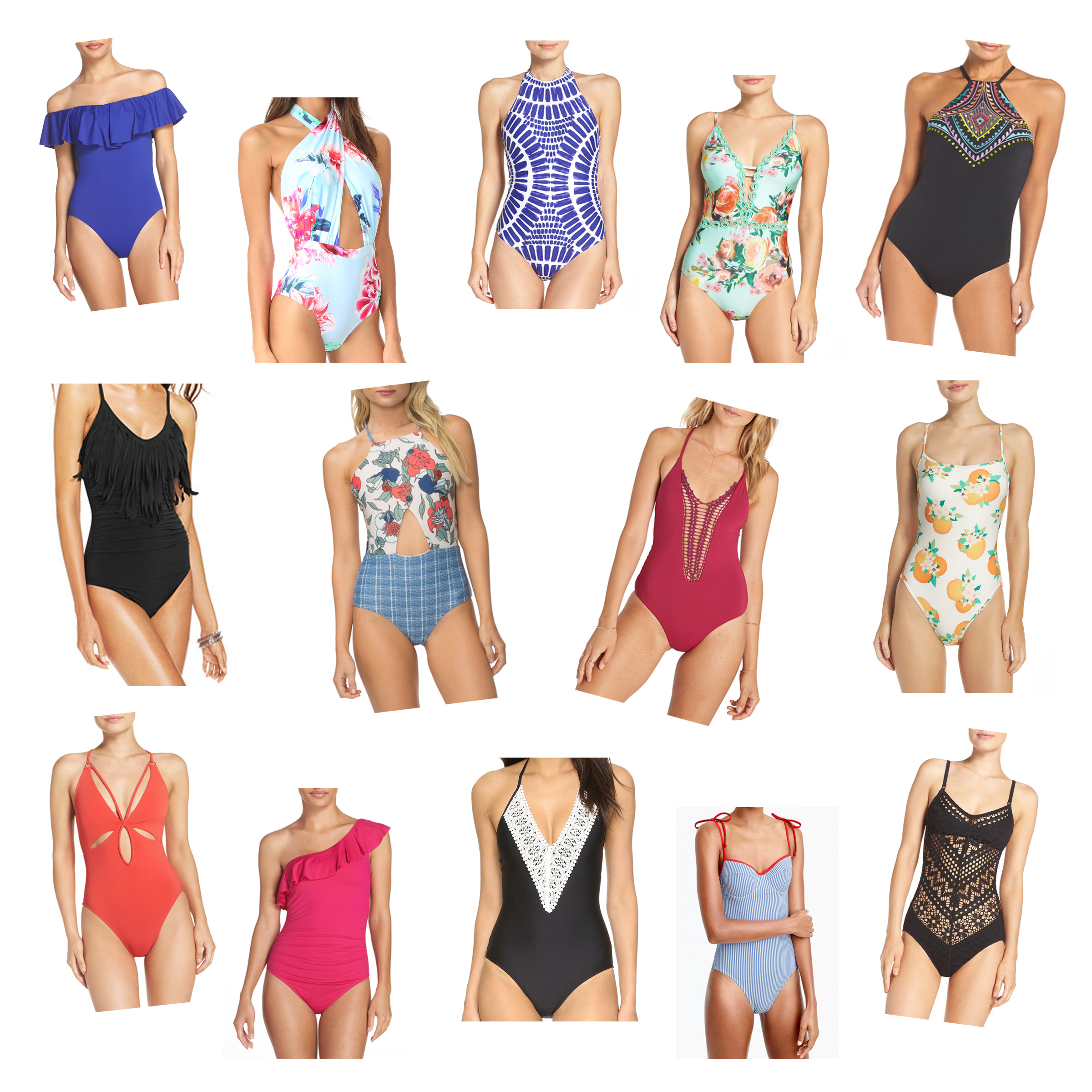 My Top 15 Favorite Cute & Stylish One-Piece Swimsuits