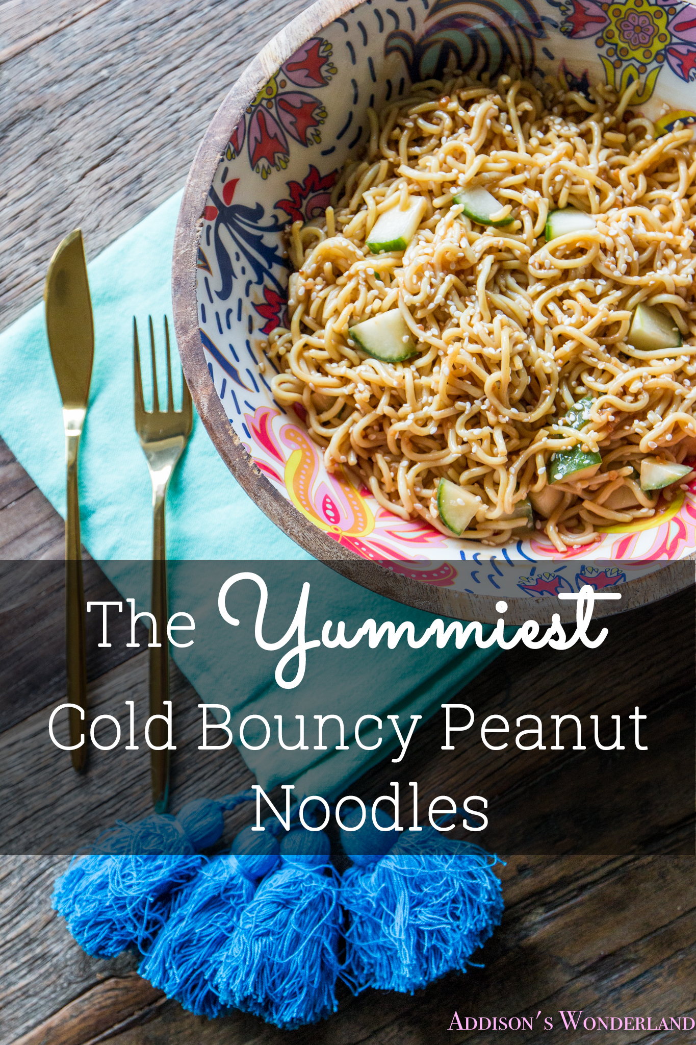 Mark's Recipe Debut- The Yummiest Cold Bouncy Peanut Noodles…