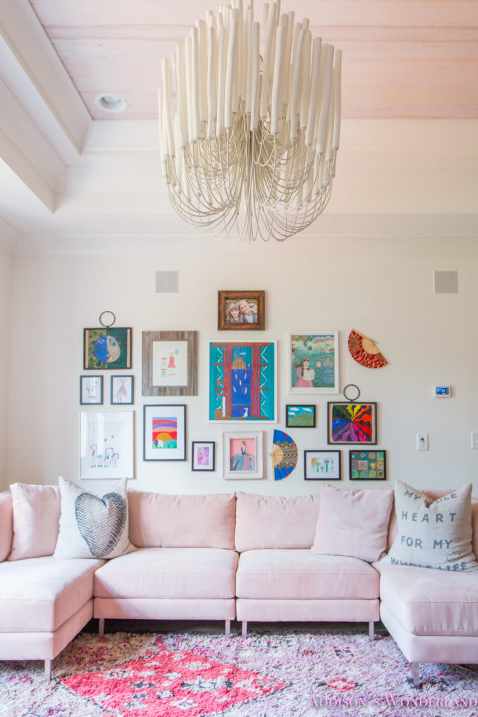Our Kid Art Playroom Gallery Wall with The Home Depot!